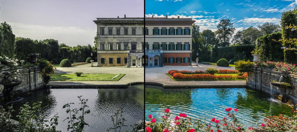 Villa Reale di Marlia - restauro prima dopo - rid