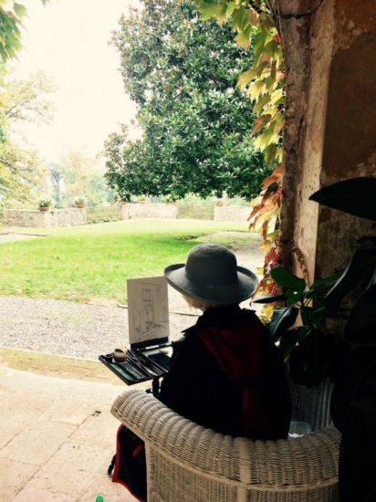 Gruppo-pittori-USA-al-Parco-Villa-Reale-ottobre-2016-16