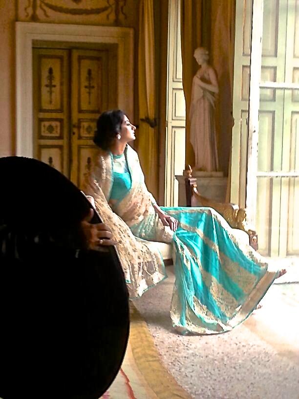 shoot fotografico moda indiana Villa Reale