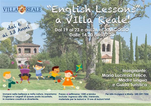 English Lesson a Villa Reale! locandina agosto