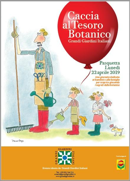 Caccia al Tesoro botanico 2019 locandina Villa Reale