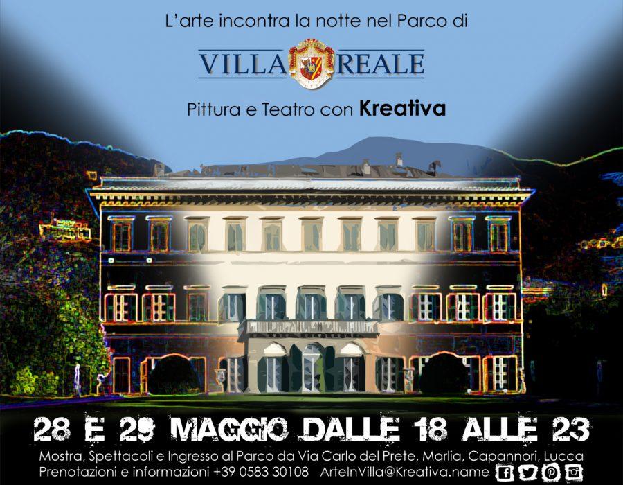 Manifesto Villareale pittura e teatro con Kreativa maggio2016