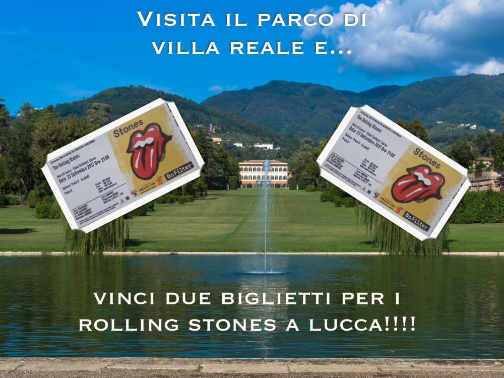 vinci due biglietti dei Rolling Stones visitando Villa Reale di Marlia