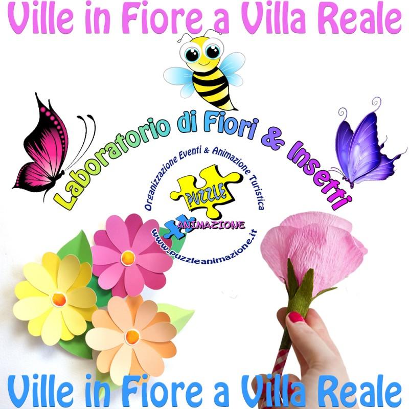 locandina Ville in Fiore a Villa Reale - laboratorio bambini