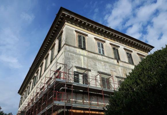 restauro facciata villa reale di marlia