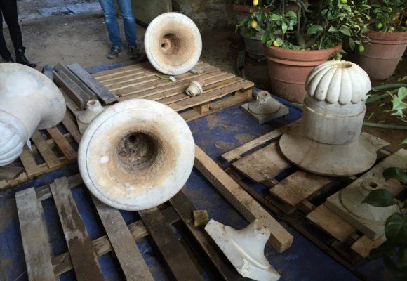 Restauro Vasi in Marmo - Villa Reale