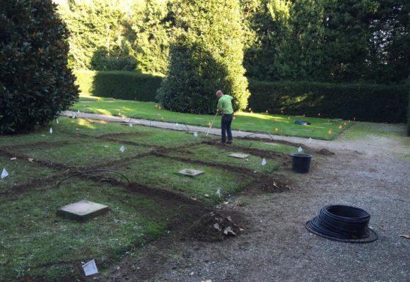 ripristino della vegetazione parco Villa Reale di Marlia