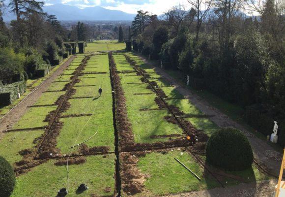 posatura Impianti di Irrigazione villa reale restaurata