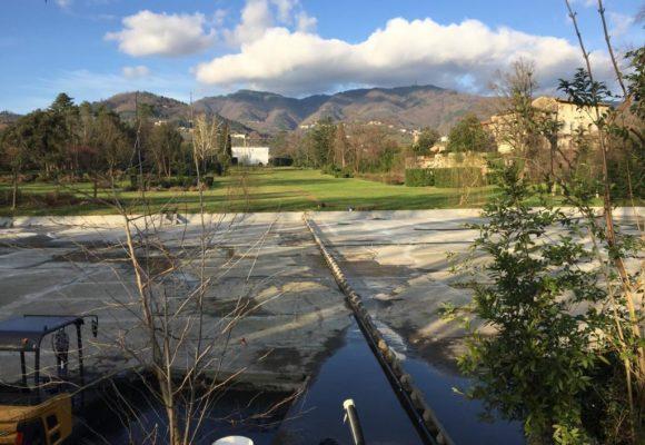 Impianti idrici restauro del lago Villa Reale di Marlia