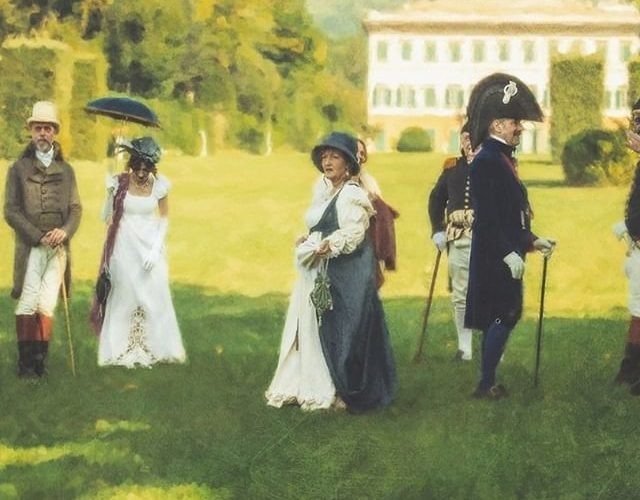 rievocatori napoleonici a Villa Reale