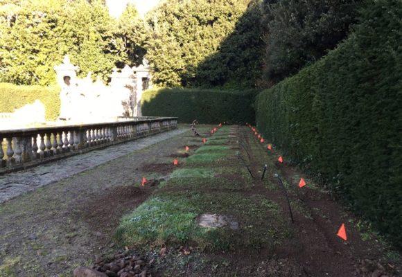 piscina e irrigazione Villa di Marlia restauri