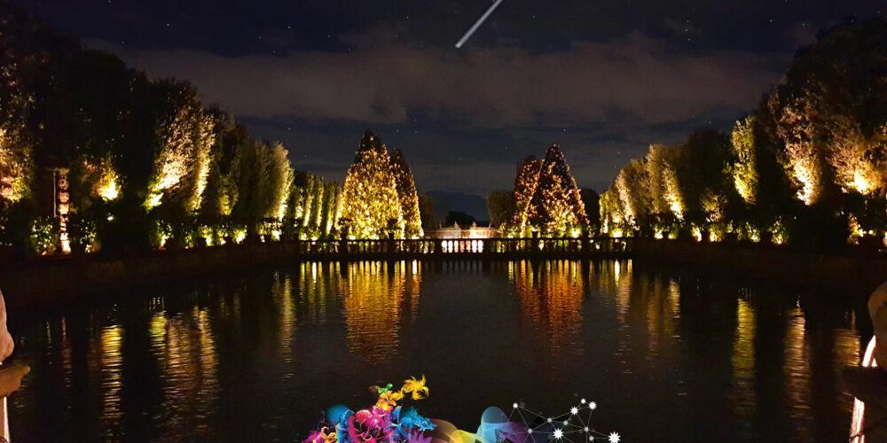 Le Rinascenze by night a Villa Reale