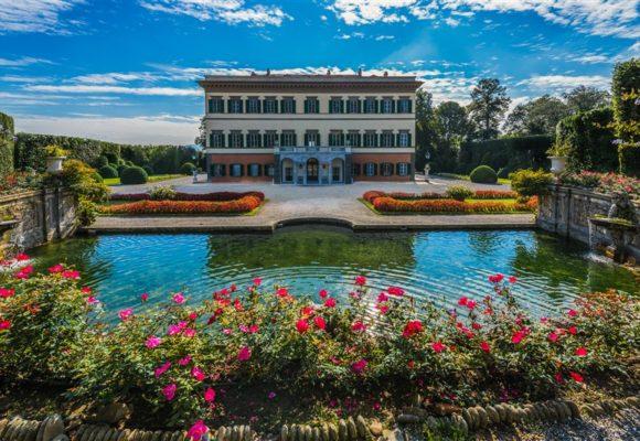 Villa Reale, facciata posteriore e Teatro d'Acqua