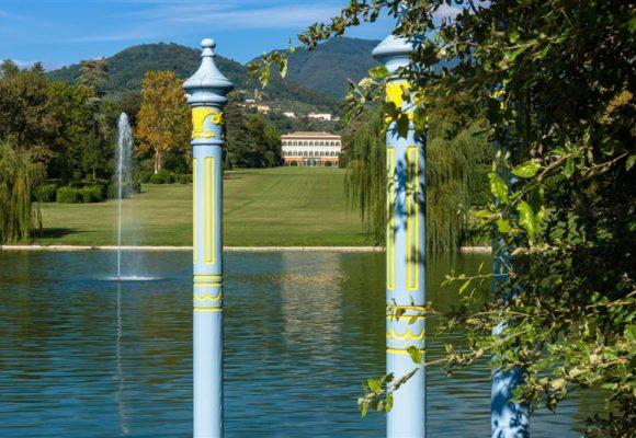 Scorcio dal lago di Villa Reale di Marlia