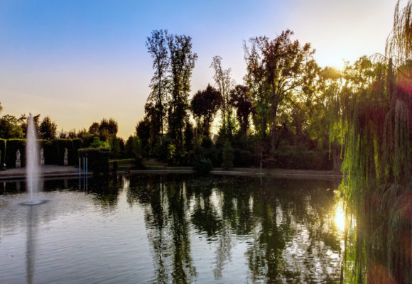 Il lago al tramonto - Villa Reale di Marlia 112 Foto di Vincenzo Tambasco
