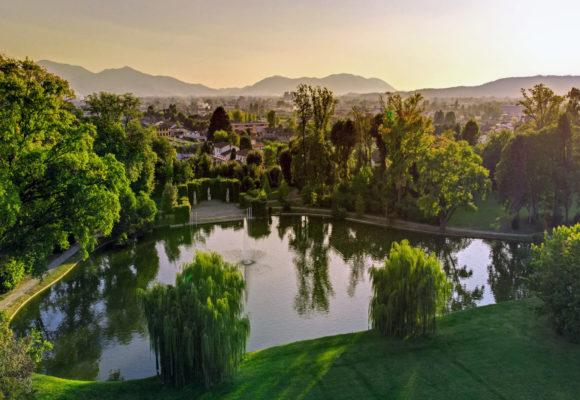 Veduta aerea del lago di Villa Reale - Foto di Vincenzo Tambasco