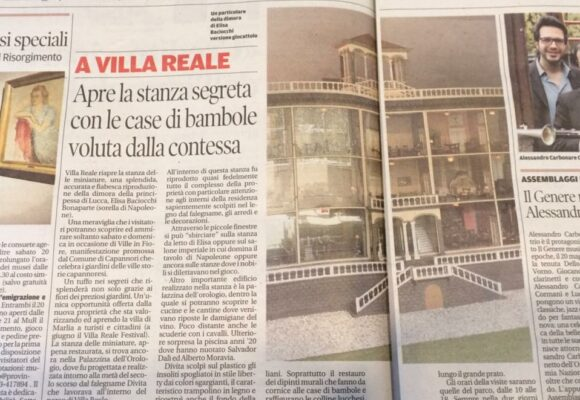 Il Giornale: A Villa Reale apre la stanza segreta con le case di bambole voluta dalla Contessa