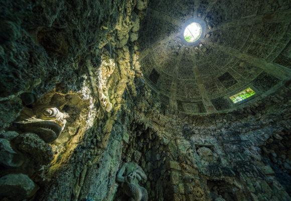 Interno della Grotta di Pan, lucernario