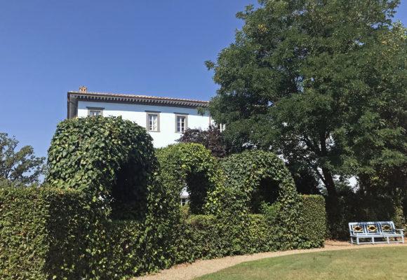 Percorso antestante Villa del Vescovo di Marlia