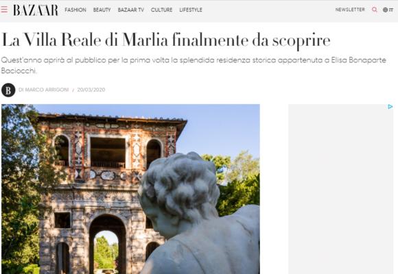 Articolo su Villa Reale di Marlia di Harper's Bazaar_marzo 2020