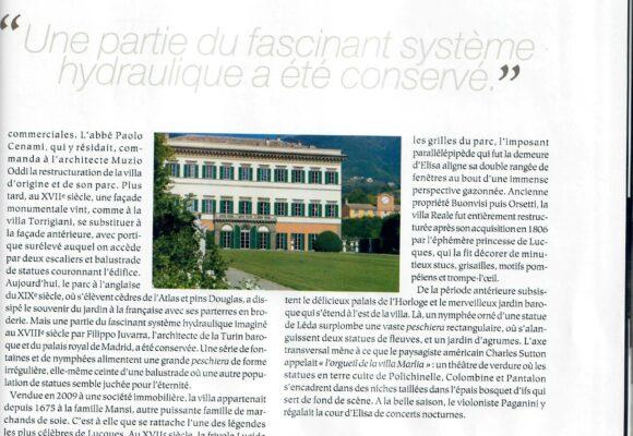 Article Le Figaro about Villa Reale di Marlia_may 2017