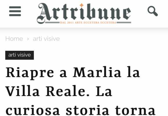 Articolo Artribune su Villa Reale di Marlia - marzo 2020