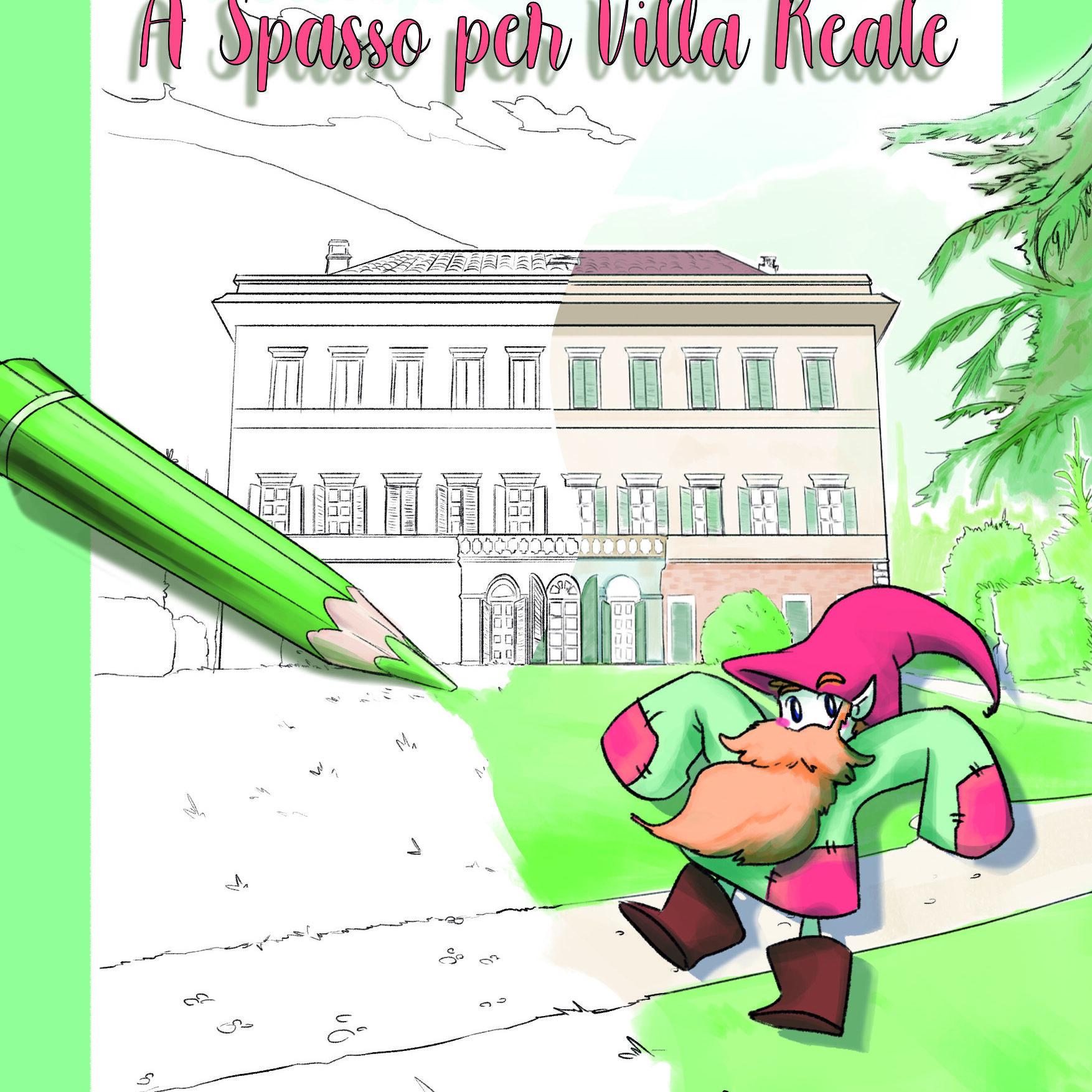 Copertina libro per bambini A spasso per Villa Reale